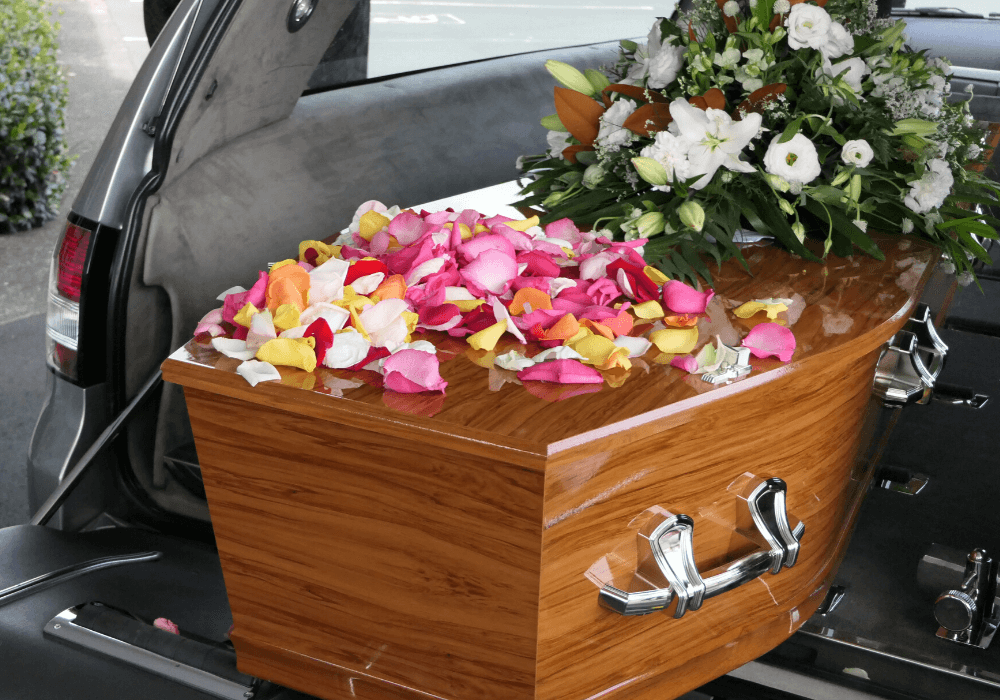 Flowers Coffin
