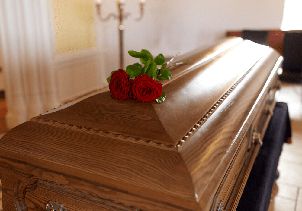 Coffiin Roses